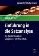 Cover-Bild zu Einführung in die Satzanalyse von Welke, Klaus