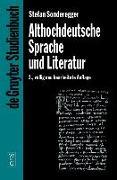 Cover-Bild zu Althochdeutsche Sprache und Literatur (eBook) von Sonderegger, Stefan