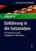 Cover-Bild zu Einführung in die Satzanalyse (eBook) von Welke, Klaus
