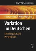 Cover-Bild zu Variation im Deutschen von Barbour, Stephen