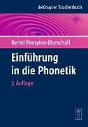 Cover-Bild zu Einführung in die Phonetik von Pompino-Marschall, Bernd