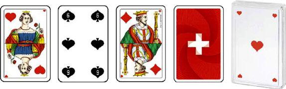 Cover-Bild zu Schweizer Kreuz Piquetkarten Plastikbox