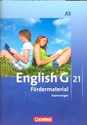 Cover-Bild zu English G 21. Ausgabe A5. Fördermaterial. Kopiervorlagen von Friedrich, Senta