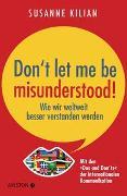 Cover-Bild zu Don´t let me be misunderstood von Kilian, Susanne