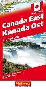 Cover-Bild zu Kanada Strassenkarte Ost 1:2.5 Mio. 1:2'500'000 von Hallwag Kümmerly+Frey AG (Hrsg.)