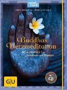Cover-Bild zu Buddhas Herzmeditation (mit Audio-CD) von Baur, Angelika