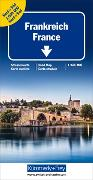 Cover-Bild zu Frankreich Nord+Süd Strassenkarte 1:600 000. 1:600'000