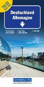 Cover-Bild zu Deutschland Nord + Süd Strassenkarte. 1:500'000