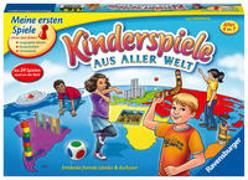 Cover-Bild zu Haferkamp, Kai: Ravensburger 21441 - Kinderspiele aus aller Welt - Spielesammlung für Kinder, 24 Minispiele für 2 bis 4 Spieler ab 4-7 Jahren