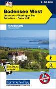 Cover-Bild zu Hallwag Kümmerly+Frey AG (Hrsg.): Bodensee West, Untersee, Überlinger See, Konstanz, Radolfszell. 1:35'000