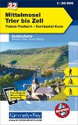 Cover-Bild zu Hallwag Kümmerly+Frey AG (Hrsg.): Mittelmosel - Trier bis Zell, Nr. 22 Outdoorkarte Deutschland 1:35 000. 1:35'000