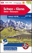 Cover-Bild zu Hallwag Kümmerly+Frey AG (Hrsg.): Schwyz-Glarus, Shilsee, Klausenpass Velokarte Nr. 12. 1:60'000