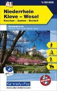 Cover-Bild zu Hallwag Kümmerly+Frey AG (Hrsg.): Niederrhein, Kleve-Wesel, Kevelaer, Xanten - Bocholt, Nr. 61, Outdoorkarte Deutschland, 1:50 000. 1:50'000