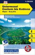 Cover-Bild zu Hallwag Kümmerly+Frey AG (Hrsg.): Untermosel - Cochem bis Koblenz, Mayen, Burg Eltz, Nr. 21, Outdoorkarte Deutschland, 1:35 000. 1:35'000