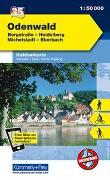 Cover-Bild zu Hallwag Kümmerly+Frey AG (Hrsg.): Odenwald - Heidelberg - Bergstrasse, Michelstadt, Eberbach. 1:50'000