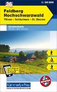 Cover-Bild zu Hallwag Kümmerly+Frey AG (Hrsg.): Feldberg - Hochschwarzwald, Titisee Nr. 26, Outdoorkarte Deutschland. 1:35'000