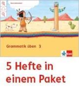 Cover-Bild zu Mein Indianerheft. Grammatik üben. Arbeitsheft Klasse 3 (5-er Paket)