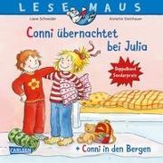 """Cover-Bild zu Schneider, Liane: LESEMAUS 207: """"Conni übernachtet bei Julia"""" + """"Conni in den Bergen"""" Conni Doppelband"""