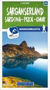 Cover-Bild zu Sarganserland Sardona - Pizol - Chur 22 Wanderkarte 1:40 000 matt laminiert. 1:40'000