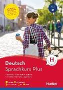 Cover-Bild zu Sprachkurs Plus Deutsch B1, Englische Ausgabe. Buch mit Audios und Videos online, App, Online-Übungen und Begleitbuch von Hohmann, Sabine
