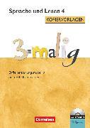 Cover-Bild zu 3-malig, Differenzierungsmaterial auf drei Niveaustufen, Sprache und Lesen, 4. Schuljahr, Kopiervorlagen mit CD-ROM von Maack, Claudia