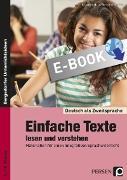 Cover-Bild zu Einfache Texte lesen und verstehen (eBook) von Jaglarz, Barbara