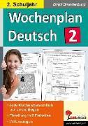 Cover-Bild zu Wochenplan Deutsch / Klasse 2 (eBook) von Brandenburg, Birgit