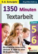 Cover-Bild zu 1350 Minuten Textarbeit / Klasse 5-6 (eBook) von Brandenburg, Birgit