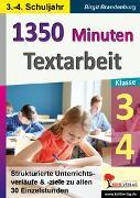 Cover-Bild zu 1350 Minuten Textarbeit / Klasse 3-4 (eBook) von Brandenburg, Birgit
