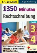 Cover-Bild zu 1350 Minuten Rechtschreibung / Klasse 3-4 (eBook) von Brandenburg, Birgit