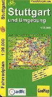 Cover-Bild zu Stuttgart und Umgebung - Radwegeplan. 1:20'000