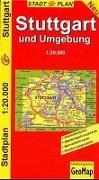 Cover-Bild zu Stuttgart und Umgebung.. 1:20'000