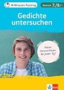 Cover-Bild zu Klett 10-Minuten-Training Deutsch Aufsatz Gedichte untersuchen 7./8. Klasse von Hufnagel, Elke