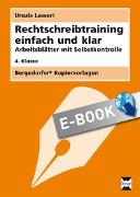 Cover-Bild zu Rechtschreibtraining einfach und klar - 4. Kl (eBook) von Lassert, Ursula