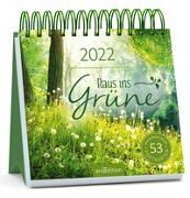 Cover-Bild zu Postkartenkalender Raus ins Grüne 2022 von Vigh, Inka (Illustr.)