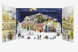 Cover-Bild zu Weihnachtszauber in der Stadt von Lefin, Petra (Illustr.)