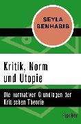 Cover-Bild zu Kritik, Norm und Utopie von Benhabib, Seyla