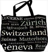 Cover-Bild zu 24644; Grosse Tasche Switzerland schwarz/silber Escudo de Oro