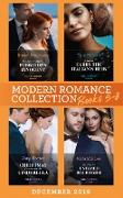 Cover-Bild zu Modern Romance December 2019 Books 5-8: Snowbound with His Forbidden Innocent / A Deal to Carry the Italian's Heir / Christmas Contract for His Cinderella / Maid for the Untamed Billionaire (Mills & Boon e-Book Collections) (eBook) von Lee, Miranda