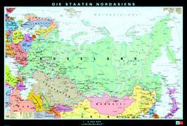 Cover-Bild zu Nordasien. physisch/politisch. 1:5'000'000