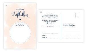Cover-Bild zu 50 Ballonflugkarten für Hochzeit, gelocht und extra leicht zum Weitfliegen. Wetterfeste Ballonkarten mit Wünschen zur Hochzeit für einen extra langen Flug. Weitflugkarten im Postkartenformat DIN A6 von Heisenberg, Sophie