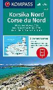 Cover-Bild zu KOMPASS Wanderkarte Korsika Nord, Corse du Nord, Weitwanderweg GR20. 1:50'000