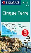 Cover-Bild zu KOMPASS Wanderkarte Cinque Terre. 1:35'000