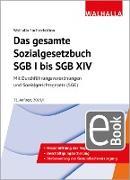 Cover-Bild zu Das gesamte Sozialgesetzbuch SGB I bis SGB XIV (eBook) von Walhalla Fachredaktion