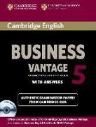 Cover-Bild zu Cambridge English Business 5. Vantage. Self-study with answere
