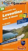 Cover-Bild zu Leventina, Valle di Blenio Mountainbike-Karte Nr. 19, 1:50 000. 1:50'000