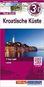 Cover-Bild zu Kroatische Küste Flash Guide Strassenkarte 1:200 000. 1:200'000