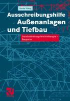 Cover-Bild zu Ausschreibungshilfe Aussenanlagen und Tiefbau