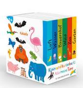 Cover-Bild zu Klein und kunterbunt: Alle meine Tiere (Würfel) von Holtfreter, Nastja (Illustr.)