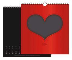 """Cover-Bild zu Foto-Bastelkalender schwarz """"Herz"""" 2014"""